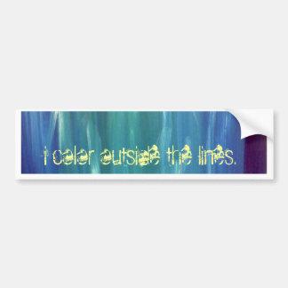 Non-Conformity: I Color Outside the Lines Bumper Sticker