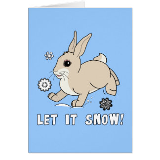 Non-Denominational Blank Holiday Card with Bunny