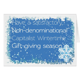 Non-denominational Christmas Card