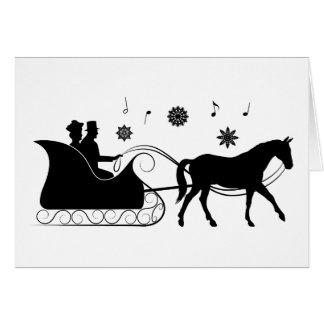 Non-Denominational Company Card: Horse Sleigh Card