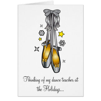 Non-Denominational Happy Holidays Dance Teacher Card
