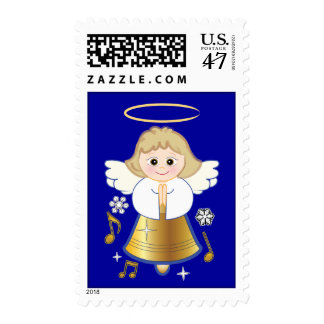 Non-Denominational Holiday Angel Bell Postage