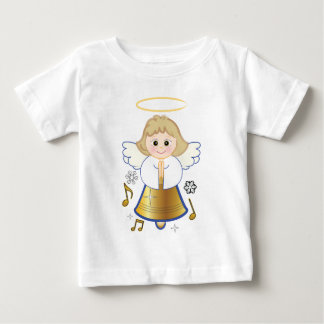 Non-Denominational Holiday Bell Angel Baby T-Shirt