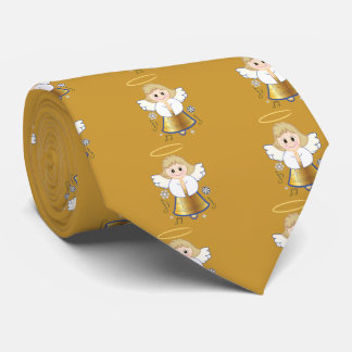 Non-Denominational Holiday Bell Angel Tie