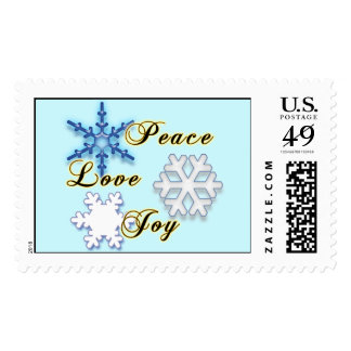 Non-Denominational Holiday Stamp with Snowflakes