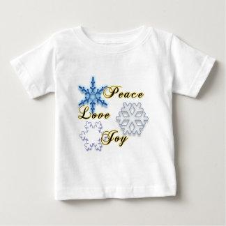 Non-Denominational Holidays Peace Love Joy Baby T-Shirt