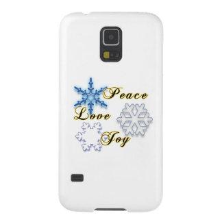 Non-Denominational Holidays Peace Love Joy Galaxy S5 Cover