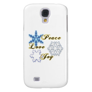 Non-Denominational Holidays Peace Love Joy Samsung Galaxy S4 Cover