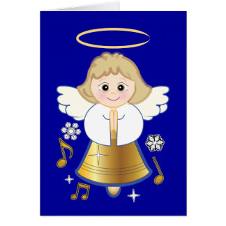 Non-Denominational Holidays with Bell Angel Greeting Card