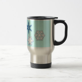Non-Denominational Holidays with Snowflakes Travel Mug