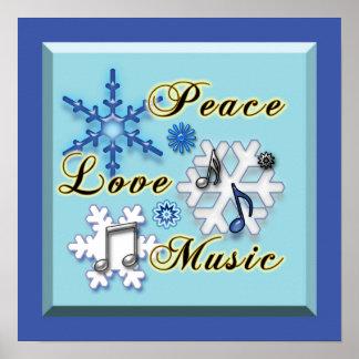 Non-Denominational Peace Love Music Poster