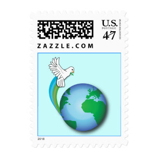 Non-Denominational Peace on Earth with Dove Stamp