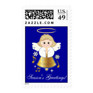 Non-Denominational Season's Greetings Angel Bell Stamps