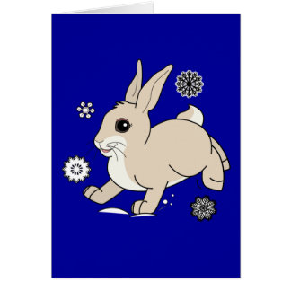 Non-Denominational Thank You Holiday Gift Bunny Stationery Note Card