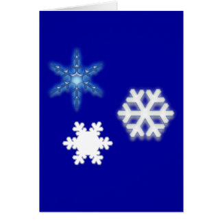 Non-Denominational Thank You Holiday Gift Snow Greeting Card