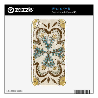 Non-Embellished Batik Square II Decal For The iPhone 4S