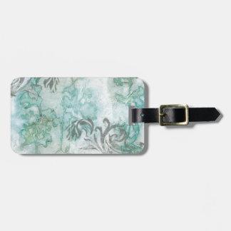 Non-Embellished Flower Spray III Luggage Tag
