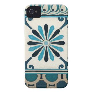 Non-Embellished Indigo Frieze II iPhone 4 Case