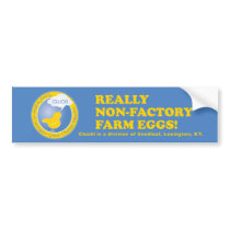 NON-FACTORY FARM EGG BUMPERSTICKER BUMPER STICKER