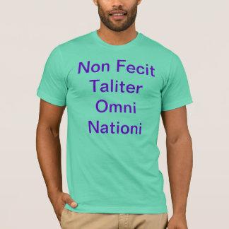 Non Fecit Taliter Omni Nationi Camisia de Mexico T-Shirt