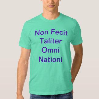 Non Fecit Taliter Omni Nationi Camisia de Mexico Tee Shirt