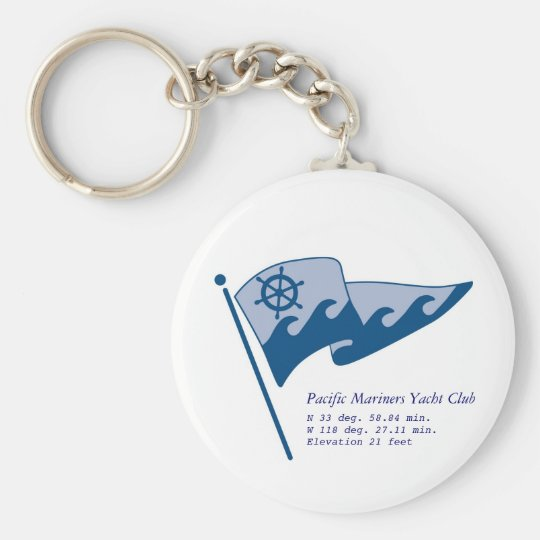 Non-Floating Key Chain #1 with waving burgee