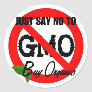 Non-gmo round stickers