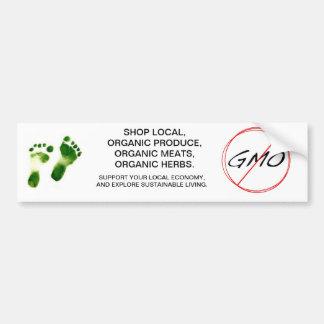 NON GMO sustainable living bumper sticker