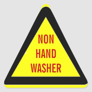 Non-Hand-Washer Warning Stickers