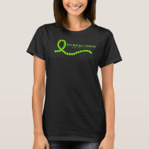 Non-Hodgkin Lymphoma Lime Green Awareness Beads T-Shirt