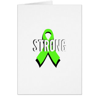 non-Hodgkin lymphoma lime green support STRONG Card