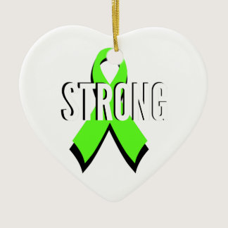 non-Hodgkin lymphoma lime green support STRONG Ceramic Ornament