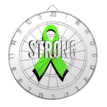 non-Hodgkin lymphoma lime green support STRONG Dartboard With Darts