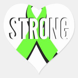non-Hodgkin lymphoma lime green support STRONG Heart Sticker