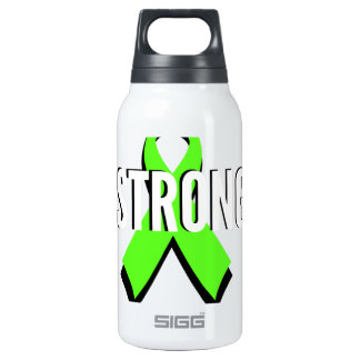 non-Hodgkin lymphoma lime green support STRONG Insulated Water Bottle