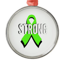 non-Hodgkin lymphoma lime green support STRONG Metal Ornament