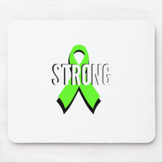 non-Hodgkin lymphoma lime green support STRONG Mouse Pads