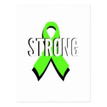 non-Hodgkin lymphoma lime green support STRONG Postcard