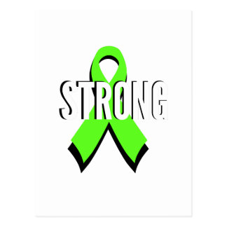 non-Hodgkin lymphoma lime green support STRONG Postcard