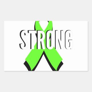non-Hodgkin lymphoma lime green support STRONG Rectangular Sticker