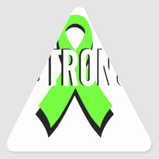 non-Hodgkin lymphoma lime green support STRONG Triangle Sticker