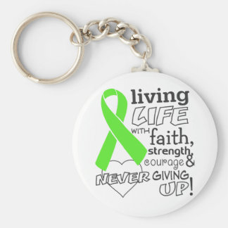 Non-Hodgkin Lymphoma Living Life With Faith Keychains