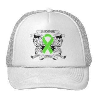Non-Hodgkin Lymphoma Survivor Butterfly Strength Hat