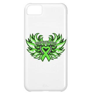 Non-Hodgkin's Lymphoma Awareness Heart Wings Case For iPhone 5C