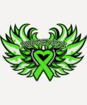 Non-Hodgkin's Lymphoma Awareness Heart Wings.png Tshirt