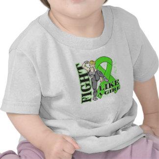 Non-Hodgkin's Lymphoma Fight Like A Girl Kickin Bu T-shirt