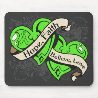 Non-Hodgkin's Lymphoma Hope Faith Dual Hearts Mouse Pads