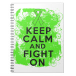 Non-Hodgkin's Lymphoma Keep Calm and Fight On Spiral Notebooks