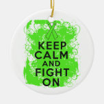 Non-Hodgkin's Lymphoma Keep Calm and Fight On Christmas Tree Ornament