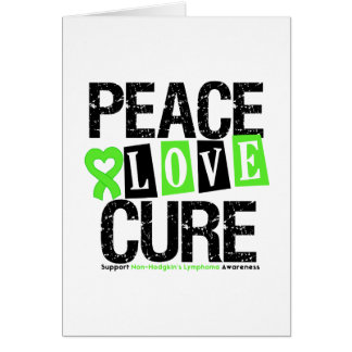 Non-Hodgkin s Lymphoma Peace Love Cure Card